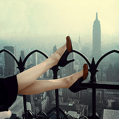 High Heel Pumps Over Manhattan
